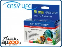EASY LIFE TEST 6in1 - 50 pasków testowych na pH, GH, KH, NO2, NO3 i Cl